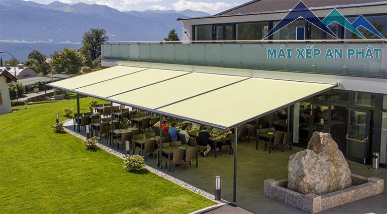 Mái che di động dùng cho quán cafe, quán ăn ngoài trời