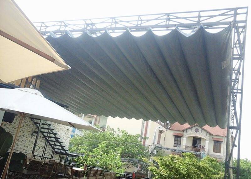 Những thiết kế mái xếp lượn sóng đẹp cho các quán cafe và quán ăn hiện nay