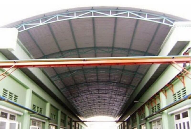 chất liệu mái vòm sân thượng