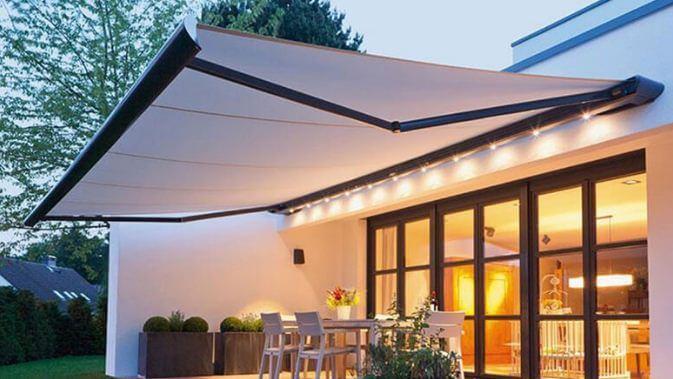 Mẫu thiết kế mái che sân vườn kiểu 7