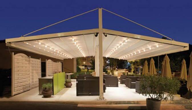 Mẫu thiết kế mái che sân vườn kiểu 10