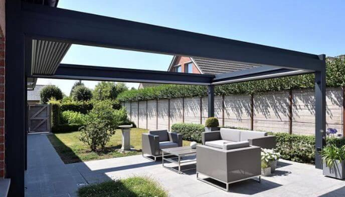 Mẫu thiết kế mái che sân vườn kiểu 1