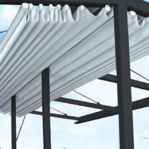mẫu mái xếp lượn sóng màu trắng ngọc