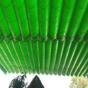 mẫu mái xếp lượn sóng màu xanh lục