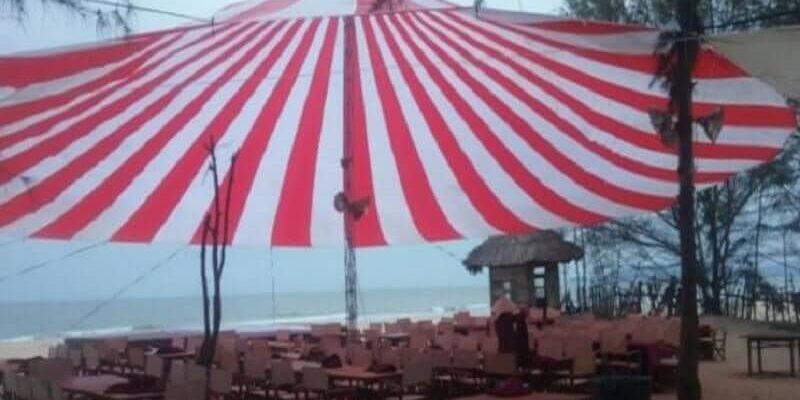 bạt dù có đường kính 20m: